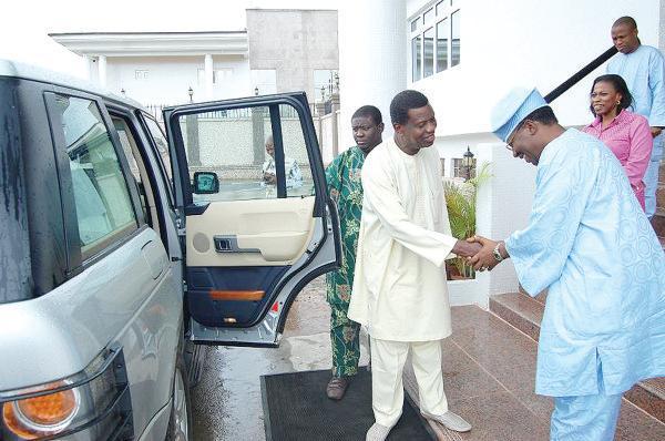 Pastor Adeboye with Gbenga Daniel