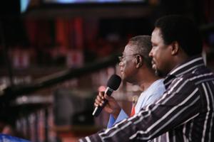 President Mills and Prophet Joshua