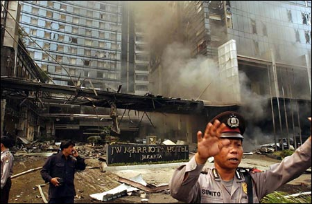 In August 2003, there was another terrorist attack on the Marriot Hotel in Jakarta