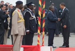President Obama With President Mills