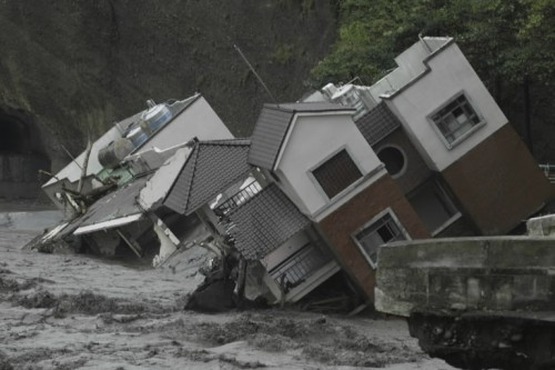 The disastrous effects of Typhoon Morakot