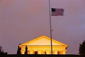 US flags flying at half mast... as foretold by TB Joshua
