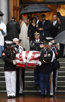 A Flag Covered Coffin - The Rain Falling...
