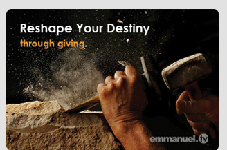 Giving Offers Us The Opportunity To Reshape Our Destiny