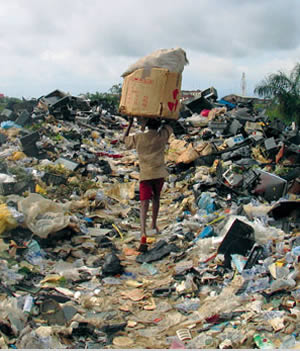 Living amidst the rubbish...