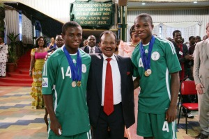 Frederick Chiluba With Sani Emmanuel And Ogenyi Onazie