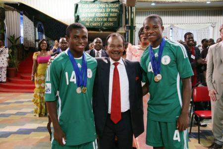 Frederick Chiluba With Sani Emmanuel And Ogenyi Onazie