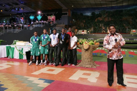 TB Joshua With Golden Eaglets