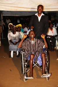 Mr Robert Sammy in wheelchair