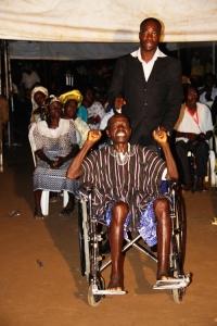 Mr Robert Sammy in wheelchair