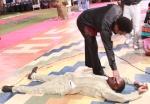 Anthony Urhie received prayer from Prophet T.B Joshua