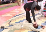 Anthony Urhie received prayer from Prophet T.B Joshua